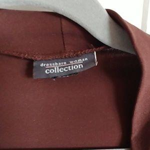 Brown polyester shrug